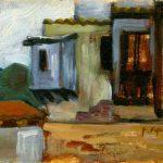 CASE A S'EUFEMIA, 1963 Olio su tela cm 18x13