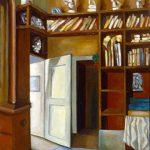 INTERNO STUDIO DI C.A.PETRUCCI, 1962  Olio su tavola cm 37x45