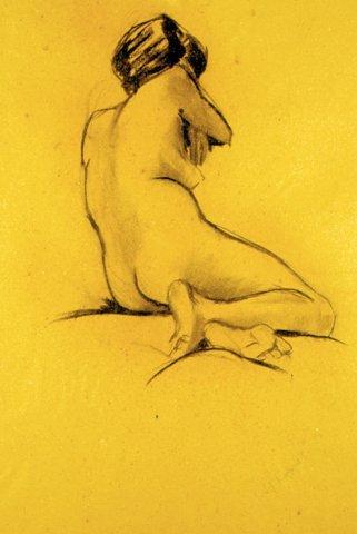 LA MODELLA, 1962   Carboncino su carta cm 47x68,5