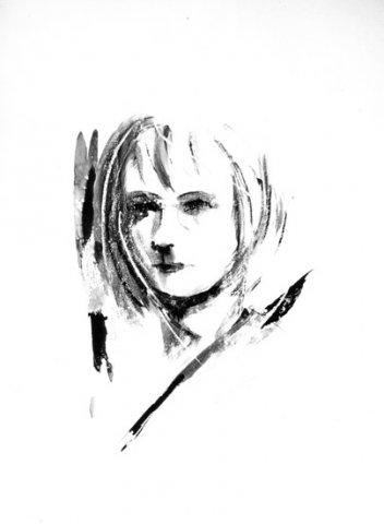 RITRATTO DI DONNA, 1966 Acquerello su carta cm 50x70