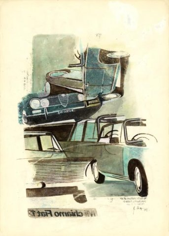 TRAFFICO, 1969 Riporti fotografici, inchiostri su carta cm 50x70