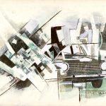 INCIDENTE, 1969 Riporti fotografici, inchiostri su carta cm 70x50