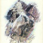 LA SETE IN AFRICA, 1973 Riporti fotografici, matite colorate su carta cm 50x70