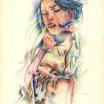 I FUMETTI, 1984 Rip. fotografici e matite colorate su carta cm 50x70