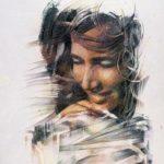 VOGLIA DI VIVERE, 1991 Rip.fotografici e matite colorate su carta cm 50x70