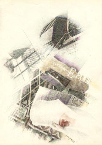REGINA COELI, 1991 Rip. fotografici e matite colorate su carta cm 35x50