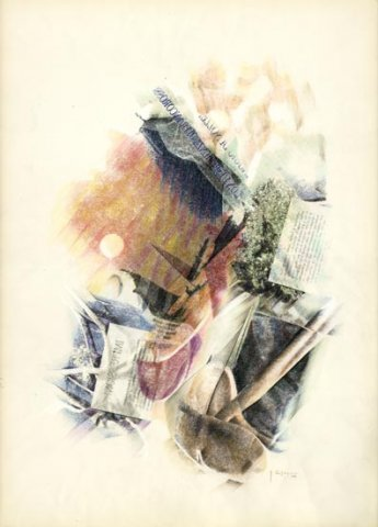 SERA, 1991 Rip. fotografici e matite colorate su carta cm 50x70