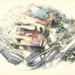 MOLECOLE ERRANTI, 1991 Rip. fotografici e matite colorate su carta cm 70x50