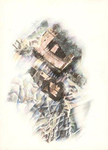 SAN MARINO, 1992 Rip. fotografici e matite colorate su carta cm 50x70
