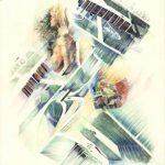 GIARDINI, 1997 Rip. fotografici e matite colorate su carta cm 50x70