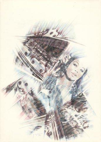 MAROCCO, 1997 Rip. fotografici e matite colorate su carta cm 50x70