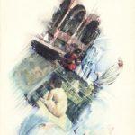 BAGNO TURCO 1999 Rip. fotografici e matite colorate su carta cm  50x70