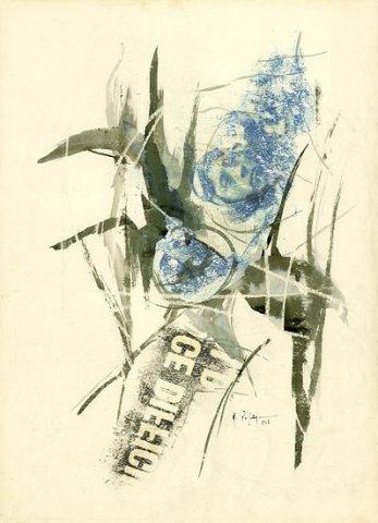 PILOTA, 1967 Riporti fotografici, inchiostri su carta cm 50x70