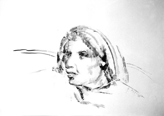 LA NONNA, 1967 Tecnica mista su carta cm 70x50