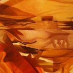 LA NASCITA DEL DESERTO, 2016  Olio su tela cm 90x130