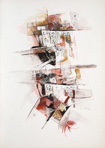 LA STANZA DEI BOTTONI, 1969 Ripr. fotografiche e acquerelli su carta cm 50x70