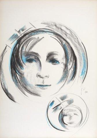 RITRATTO DI ANNA, 1981 Matite su carta cm 35x50