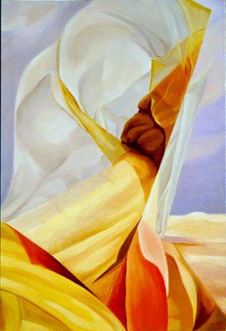 VERSO LA LIBERTA', 1995 Olio su tela cm 70x100