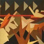 A PEZZARA, 1972  Arazzo di moquettes cm 200x200