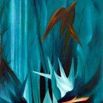 ABISSI, 2003 (acqua) Olio su tela cm 40x50