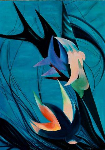 ADDII, 2002 (acqua) Olio su tela cm 50x70