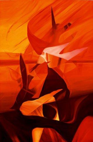 ALBA, 2005 (fuoco) Olio su tela cm 100x150