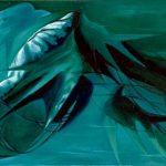 ALGHE, 2002 (acqua) Olio su tela cm 40x30