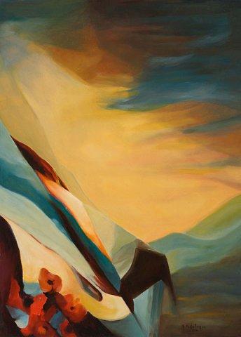 ANEMONI, 2010 Olio su tela cm 50x70