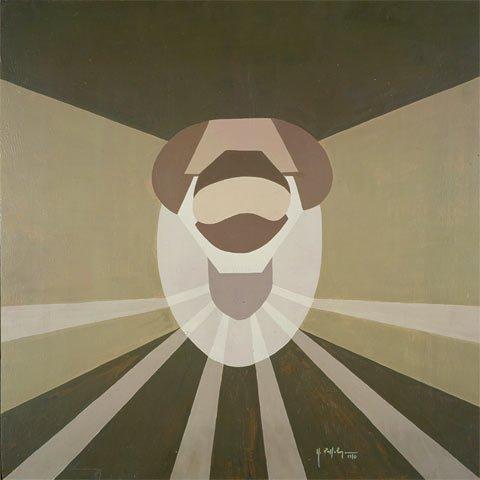 ARIETE, 1970  Acrilico su tavola cm 60x60