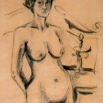 AUTORITRATTO, 1966 Carboncino su carta avorio cm 65x92,5