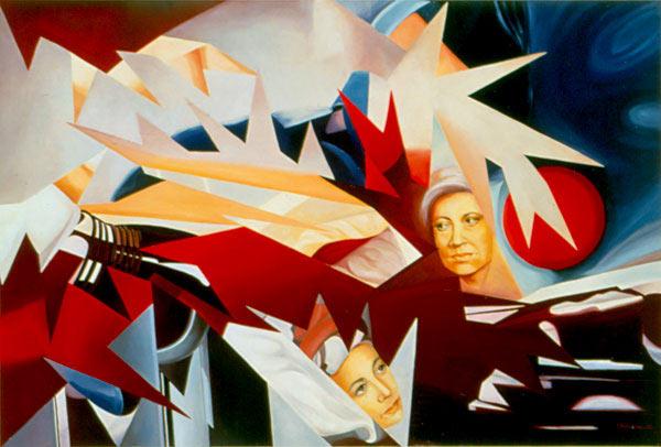 AUTORITRATTO, 1991 Olio su tela cm 150x100