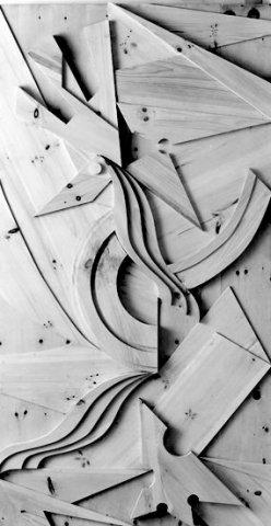 BASSORILIEVO IN LEGNO, 1972  Cirmolo cm 150x280