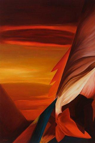 CIELO INFUOCATO, 2012 Olio su tela cm100x150