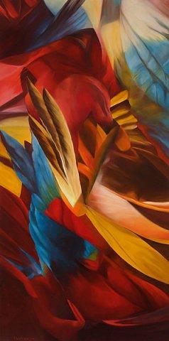 I COLORI DELL'ESTATE 2013 Olio su tela cm 70x140