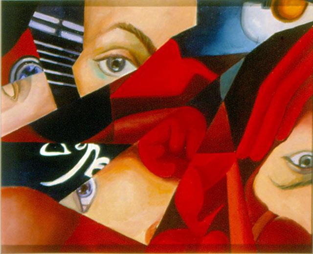 COLPO D'OCCHIO, 1988  Olio su tela cm 31x25