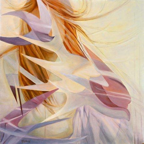 VOLERO' COME UN GABBIANO, 2004 (aria) Olio su tela cm 80x80