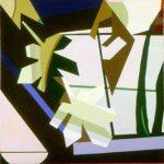 DALLA FINESTRA DI CESIANO, 1978  Acrilico su tela cm 80x80