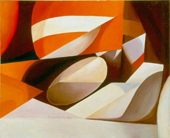 EMBRIONE, 1990  Olio su tela cm 50x 40