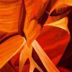 ENIGMI, 2002 (fuoco) Olio su tela cm 58X90