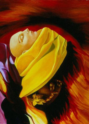 PIU' FORTE DELLA MORTE, 2002  Olio su tela cm 70x100