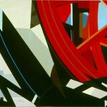 FRAMMENTI MECCANICI, 1973  Acrilico su tela cm 100x70