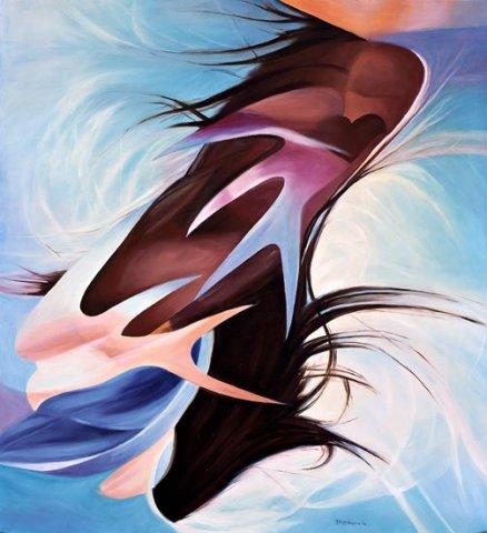 FREMITO, 2004 (aria)  Olio su tela cm 110x120