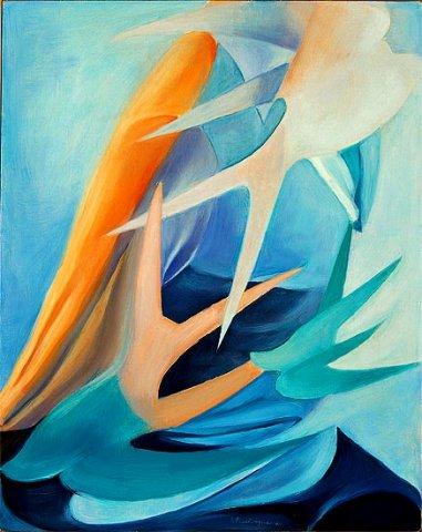 GEOMETRIE CELESTI, 2003 (aria) Olio su tela cm 40x50
