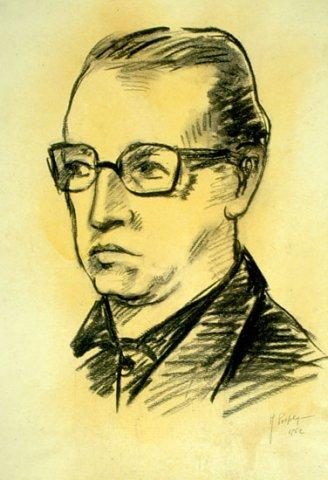 RITRATTO DI GUIDO GUARDA, 1962 Carboncino su carta avorio cm 29x42