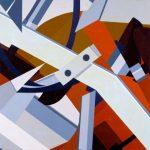 INGRANAGGI, 1975  Acrilico su tela  cm 80x80