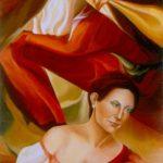 RITRATTO DI KATIA LUISI, 1991 Olio su tela cm 70x100