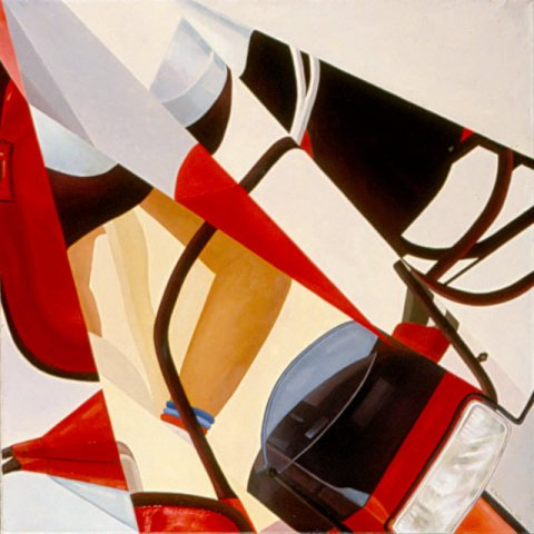LA MOTORETTA, 1988 Olio su tela cm 90x90