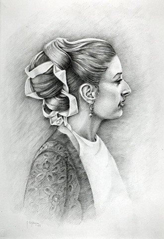 MIA FIGLIA LAURA, 1997 Matite su carta cm 50x70