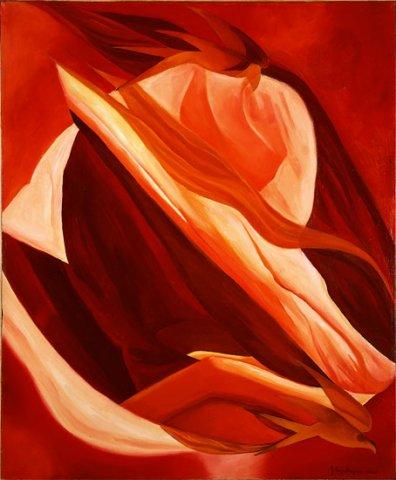 MAGMA, 2002 (terra)  Olio su tela cm 50x60