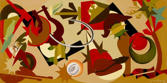 LE MATERIE D'INSEGNAMENTO, 1970   Acrilico su tavola cm 300x150